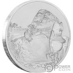 JABBA THE HUTT Star Wars Classic 1 Oz Silver Coin 2$ Niue 2018