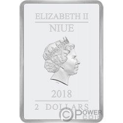 STAR WARS Dunkle Bedrohung 1 Oz Silber Münze 2$ Niue 2018