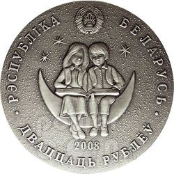 TURANDOT Princess Fairy Tale Moneda Plata Zircon Belarus 2008