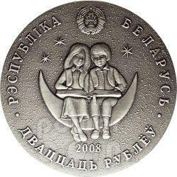 TURANDOT Princess Fairy Tale Серебро Монета Zircon Белоруссия 2008