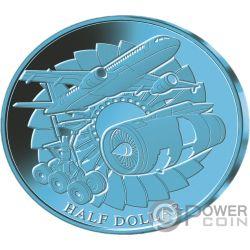 TITANIUM Anodization Set 3 Coins 1$ 50 Cents Fiji Samoa 2018
