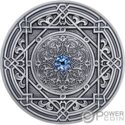 MORESQUE Mandala Art 3 Oz Silver Coin 10$ Fiji 2018