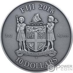 MORESQUE Moresco Mandala Art 3 Oz Moneta Argento 10$ Fiji 2018