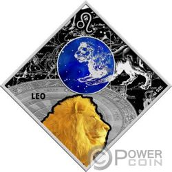 LEO Zodiac Signs Silver Coin 100 Denars Macedonia 2018