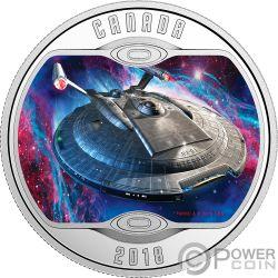 ENTERPRISE NX01 Star Trek Next Generation Серебро Монета 10$ Канада 2018