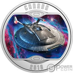 ENTERPRISE NX01 Star Trek Next Generation Silber Münze 10$ Canada 2018