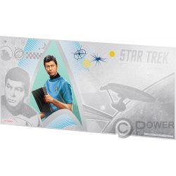 MCCOY Doctor Leonard Star Trek Original Series Foil Silber Note 1$ Niue 2018