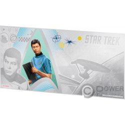MCCOY Doctor Leonard Star Trek Original Series Foil Silver Note 1$ Niue 2018