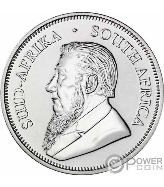 KRUGERRAND Coloreada 1 Oz Moneda Plata 1 Rand South Africa 2017