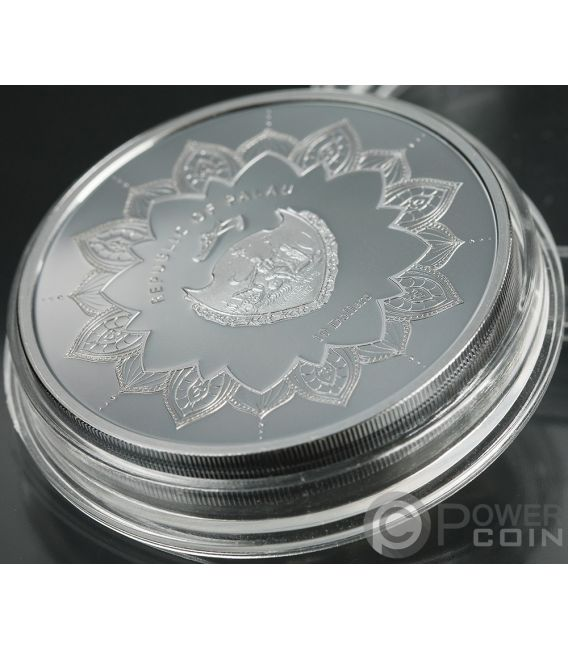 LAUGHING BUDDHA Lying 2 Oz Silver Coin 10$ Palau 2018