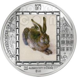 YOUNG HARE Durer Rabbit Silver Coin 10$ British Virgin Islands 2011