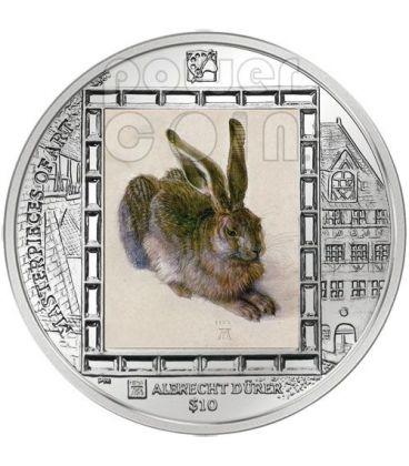 LEPRE YOUNG HARE Durer Moneta Argento 10$ Isole Vergini Britanniche 2011