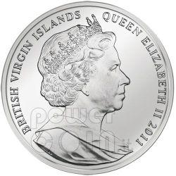YOUNG HARE Durer Rabbit Серебро Монета 10$ Британские Виргинские Острова 2011