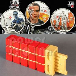 TERMINATOR T2 Judgment Day 3 Coin Set 5$ Cook Islands 2011