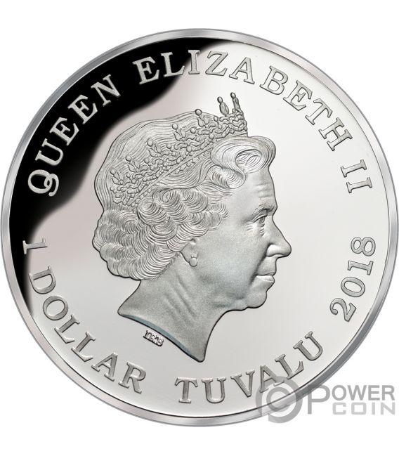 DINGO Australia Deadly Dangerous 1 Oz Silber Münze 1$ Tuvalu 2018