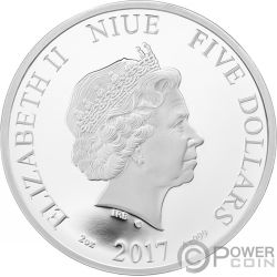 AUTUMN Herbst Crystal Four Seasons 2 Oz Silber Münze 5$ Niue 2017