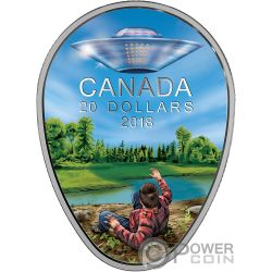 FALCON LAKE INCIDENT Unexplained Phenomena 1 Oz Silver Coin 20$ Canada 2018