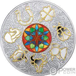 LUCKY SEVEN Gluckliche Sieben Symbols of Good Luck Silber Münze 25$ Niue 2018