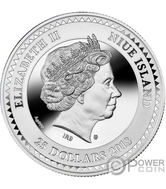 LUCKY SEVEN Sette Fortunato Symbols of Good Luck Moneta Argento 25$ Niue 2018