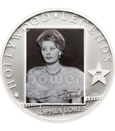 SOPHIA LOREN Hollywood Legends Silver Coin 5$ Cook Islands 2011