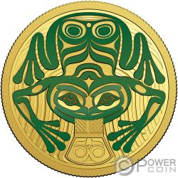 FROG REVEALS A GIFT Gold Coin 100$ Canada 2018