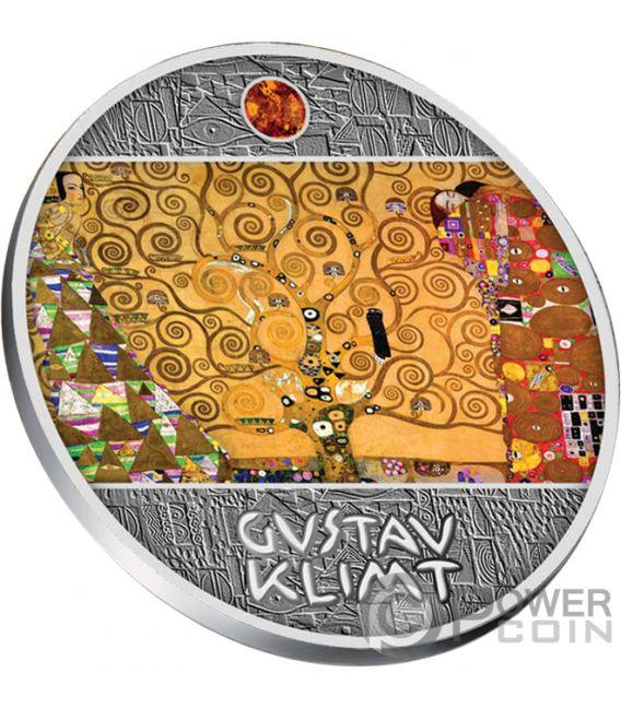 TREE OF LIFE Gustav Klimt Golden Five Silver Coin 1$ Niue 2018