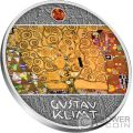 TREE OF LIFE Gustav Klimt Golden Five Silver Coin 1$ Niue 2018