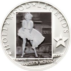 MARILYN MONROE Hollywood Legends Moneta Cook Islands 2011