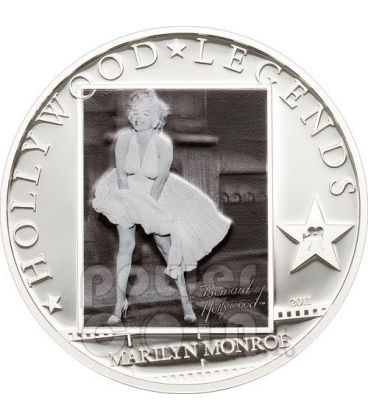 MARILYN MONROE Hollywood Legends Silver Coin Cook Islands 2011