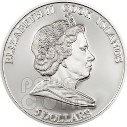 LIZ TAYLOR Hollywood Legends Silber Münze 5$ Cook Islands 2011