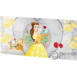 BELLE Beauty Beast Disney Princess Foil Silver Note 1$ Niue 2018