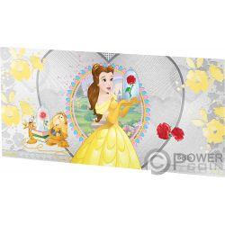 BELLE Bella Bestia Princesa Disney Princess Billete Plata 1$ Niue 2018