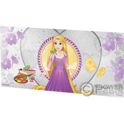 RAPUNZEL Enredados Princesa Disney Princess Billete Plata 1$ Niue 2018