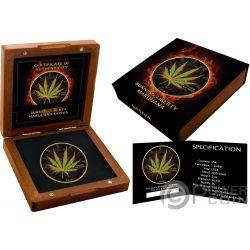 SATIVA Marijuana Liberty 1 Oz Moneda Plata 1$ US Mint 2018