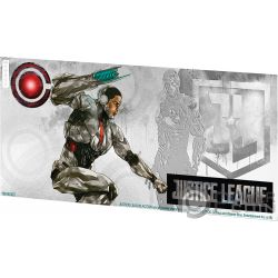 CYBORG Justice League Foil Серебро Note 1$ Ниуэ 2018