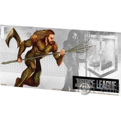 AQUAMAN Justice League Foil Silver Note 1$ Niue 2018