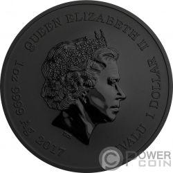 SPIDERMAN Marvel Ruthenium Colorized 1 Oz Серебро Монета 1$ Тувалу 2017