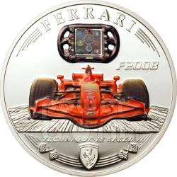 FERRARI F2008 Carbon Fiber Moneda Plata 5$ Cook Islands 2009