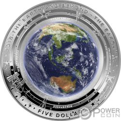 EARTH Tierra Mundo Beyond 1 Oz Moneda Plata 5$ Australia 2018