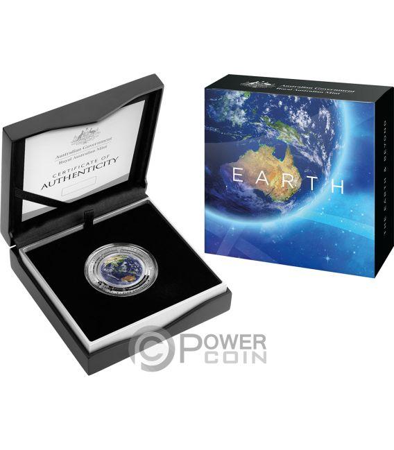 EARTH World Beyond 1 Oz Silver Coin 5$ Australia 2018