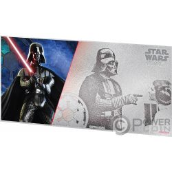 DARTH VADER Star Wars New Hope Foil Silver Note 1$ Niue 2018