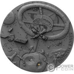 SPACE MINING Station 1 Oz Серебро Монета 1$ Ниуэ 2018