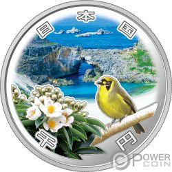 OGASAWARA ISLANDS Isole 50 Anniversario 1 Oz Moneta Argento 1000 Yen Japan Mint 2018
