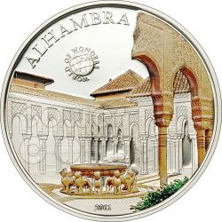 ALHAMBRA Andalusia World Of Wonders Moneta Argento 5$ Palau 2011
