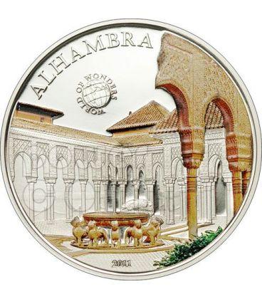 ALHAMBRA Andalusia World Of Wonders Moneta Argento 5$ Palau 2011
