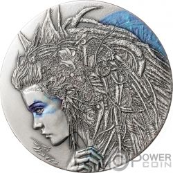 CASSANDRA Casandra Dark Beauties Moneda Plata 2$ Niue 2018