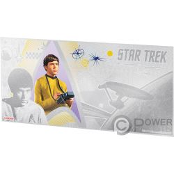 CHEKOV Navigator Star Trek Original Series Foil Серебро Note 1$ Ниуэ 2018