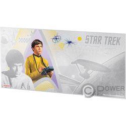CHEKOV Navigator Star Trek Original Series Silber Note 1$ Niue 2018