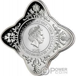 QUEEN ELIZABETH II CORONATION 65 Jahrestag Krönung Stern Geformt 1 Oz Silber Münze 1$ Tokelau 2018