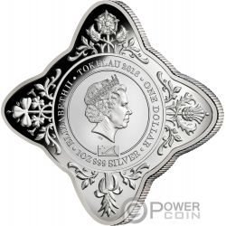 QUEEN ELIZABETH II CORONATION 65th Anniversary Star Shaped 1 Oz Silver Coin 1$ Tokelau 2018